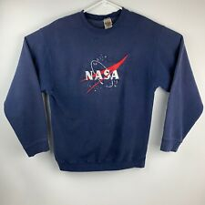 Vintage 90's NASA Spell Out Embroidered Crewneck Sweatshirt Size Large