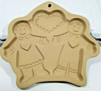 Brown Bag Cookie Art Mold, Hill Design Inc - Gingerbread Boy and Girl with Heart