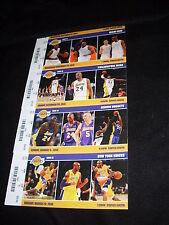 NBA Los Angeles Lakers Kobe Bryant 2013-2014 season 4 unused tickets stubs Set C