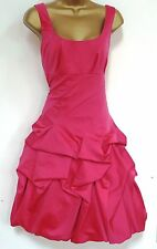 MONSOON  ✩  STUNNING CARMEL PINK RUFFLE COCKTAIL DRESS  ✩  UK SIZE 12