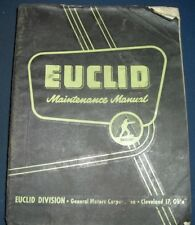 EUCLID 3UDT 3UOT 4UOT-26H 6UOT-38SH SCRAPER MAINTENANCE SERVICE SHOP MANUAL