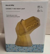 Nice & Nifty Ceramic T-Rex Night Light Mib Mint Condition Boxed Battery Operated
