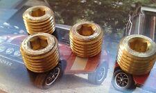 Mini Cooper S Clásico MG Metro Turbo tapones de aceite de latón a + 1275 Carrera Rally KAD Med