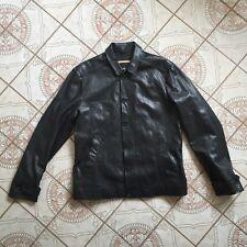 John Varvatos Motorcycle Lambskin Leather Slim Fit Jacket Black Size 46 M L