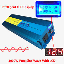 Pure Sine Wave power inverter 3000W Peak 6000W DC 12V TO AC 240V UK Socket LED