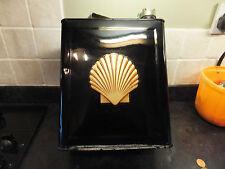 Vintage 2 Gallon Petrol Can Gold Shell Decal Transfer Bullnose Flatnose Morris
