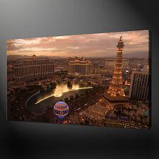"LAS VEGAS CITYSCAPE PRINT PICTURE PREMIUM QUALITY WALL ART 20""x16"" FREE UK P&P"