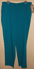 NWT WOMENS TAN JAY TURQUOISE PANTS  SIZE 20W