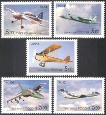 Russia 2006 Jakovlev/piani/Aeromobile/Trasporto/Design/Engineering 5v Set n28665a