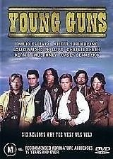YOUNG GUNS DVD=EMILIO ESTEVEZ=REGION 4 AUSTRALIAN RELEASE=  NEW AND SEALED