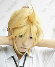 Anime Vocaloid Kagamine Len Rin Cosplay Wig Party Full Hair + Free Cap + Track