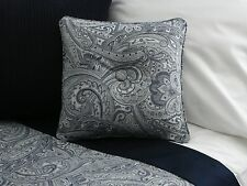 NEW Custom Ralph Lauren Paisley Suite Navy Throw Pillow 2 Button