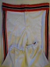 NOS Vtg 80s Rawlings Men's Baseball Pants Adult Small White Orange Black USA