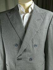 Vintage 1986 Bespoke Tommy Nutter Savile Row Houndstooth Suit C40 W38 L32.5