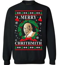 Unisex UGLY CHRISTMAS SWEATER Funny Womens Mens X MAS PARTY Sweatshirt BLACK