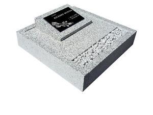 Granit Grabeinfassung 60*50 cm für Urnengrab, Grabstein, Grabmal, Einfassung
