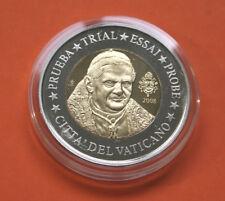 DEUTSCHLAND: 2 EURO ENTWURF VATIKAN 2008, St, Bimetall, 25 g Medaille + COA, 03
