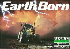 Renault TX 103 Tractor Brochure Poster Advert A3