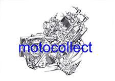 Silk 700S Engine..Cutaway Technical Drawing..A3 Print..Free Postage Worldwide