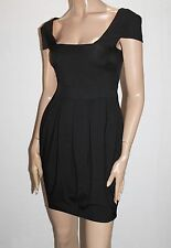 ASOS Brand Black Fitted Pleated Day Dress Size 6 BNWT #ST107