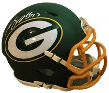 Davante Adams Autographed Green Bay Packers Mini AMP Speed Rep Helmet JSA Aut...