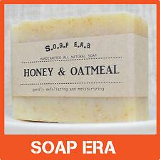 1x Honey Oatmeal natural handmade gently exfoliating soap unscented moisturizing