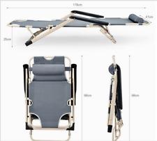 Folding Reclining Chair Chaise Lounge Benche Pool Beach Garden Leisure Chair