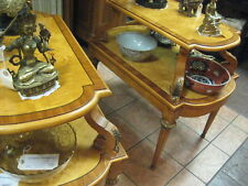Antique 1930's / 1940's French Empire Style Pair of 2 Tier Side Tables
