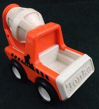 TONKA Vintage Cement Mixer Orange Plastic Chunky Plastic 1987 Bandai Truck