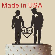 Homosexual Wedding Cake Topper, Same Sex,Gay wedding cake topper,Made in USA, 5""