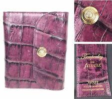 Filofax Temperley Clutch Purse organiser violet Italian calf leather plum purple
