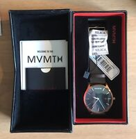 MVMT Classic Rose Gold / Brown Leather Strap Mens Watch - Brand New in Box