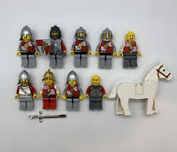 LEGO Lion Knight Red Castle Shield Minifigure Lot Of 10 Horse Vintage