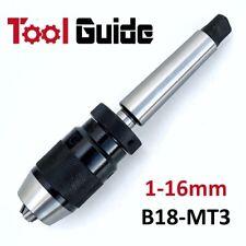 1-16mm Mount B18 MT3 End Keyless Precision Drill Chuck Arbor Shank Morse Taper 3