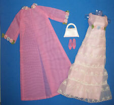 Vintage Francie Doll #1283 SWEET 'N SWINGIN' Formal Prom Gown & Coat 1967
