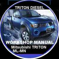 MITSUBISHI TRITON MN ML 4D56-DIESEL WORKSHOP REPAIR MANUAL CDROM