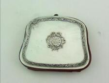 LOVELY GEORGIAN SOLID SILVER AND MOTHER OF PEARL PURSE