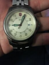 Victorinox Swiss Army Men's Classic Alliance Stainless Steel Watch W/green Hands
