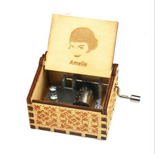 Holiday Souvenir Gifts Hand Crank Wooden Music Box ANGEL AMELIE Music Box