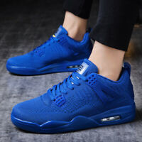 Mens Mesh Running Sport Shoes Jogging Pure Color Sneakers Athletic Casual Shoes