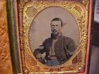 Civil War Photograph 1/6 Plate Union SERGEANT Tintype w/Great Patriotic Mat NICE for sale