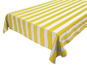 Polycotton 2 Inch Stripes Tablecloth for Wedding/Birthdays/Party/Special Events