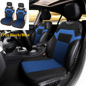Black/Blue T-shirt Design Car Front Seat Cover Fit Car Care Coves Seat protector