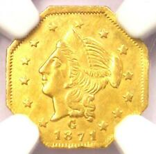 1871 Liberty California Gold Dollar G$1 BG-1109 - NGC Uncirculated Dets (UNC MS)