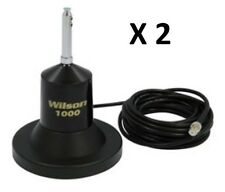 "lot of 2 Wilson 1000 Magnet Mount CB Radio Antenna With 62.5"" Whip 880-900800B"