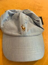 27cde2e4 $39.50 Polo RALPH LAUREN Men's Cotton Oxford Baseball Cap Hat, Light Blue  P10