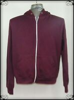 Brave Soul Mens Jumper Long Sleeves Hoodie  Zip-Up Maroon Size M