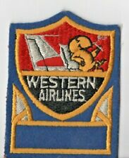 WESTERN AIRLINES WALLY BIRD UNIFORM PATCH