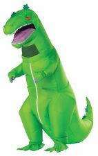 Reptar Inflatable Adult Costume Green Dinosaur Reminiscent Godzilla Rubies