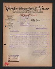 KÖLN, Brief 1921, Cementbau AG Beton Eisenbeton